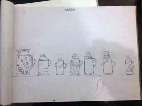 学生作业展---手绘线条图像(一)