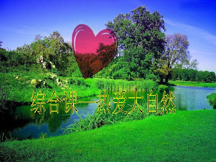 在图片中体会了自然的美,在美图中受到启发,从心灵深处激发了他的爱心