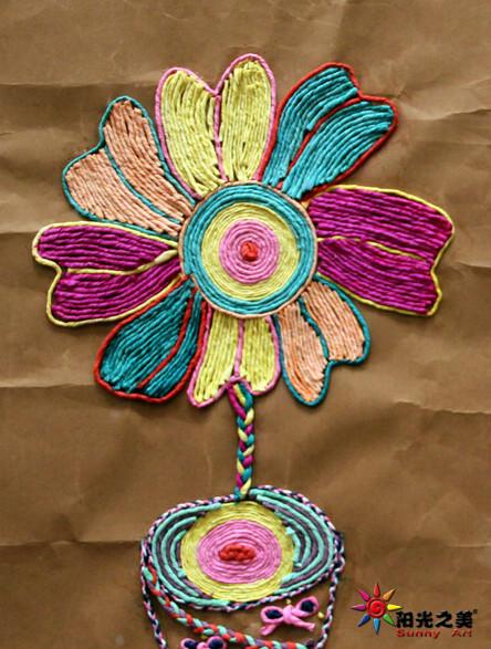 手工纸条麦穗步骤图片